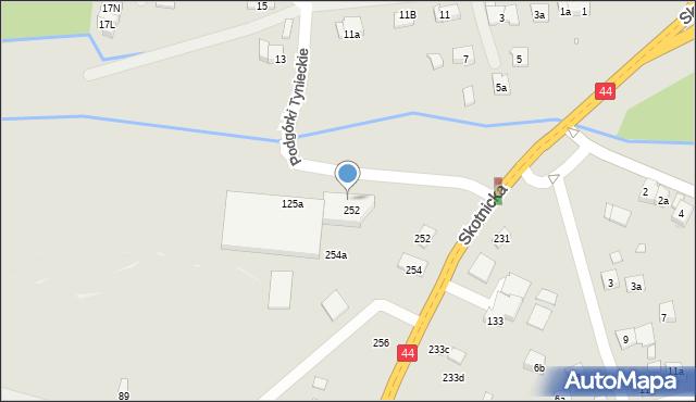 Kraków, Skotnicka, 252a, mapa Krakowa
