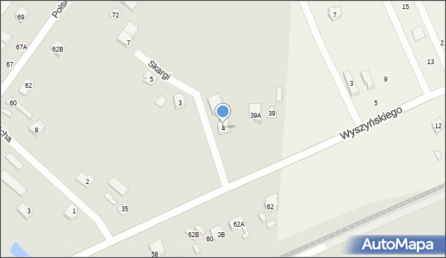 Radzymin, Skargi Piotra, ks., 4, mapa Radzymin