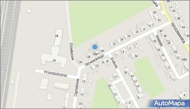 Strzelin, Słowackiego Juliusza, 26a, mapa Strzelin