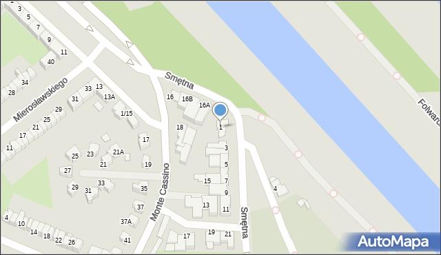 Wrocław, Smętna, 1, mapa Wrocławia