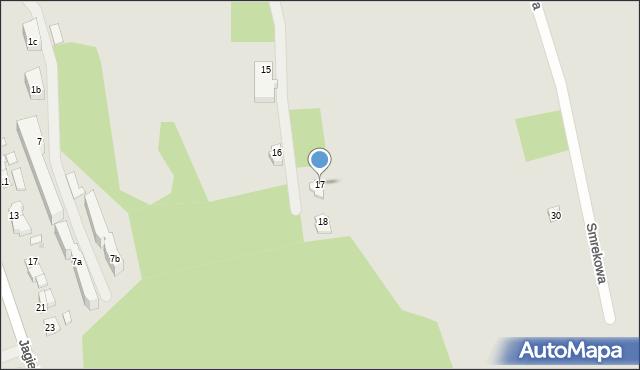 Zakopane, Smrekowa, 17, mapa Zakopanego