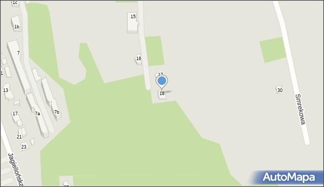 Zakopane, Smrekowa, 18, mapa Zakopanego