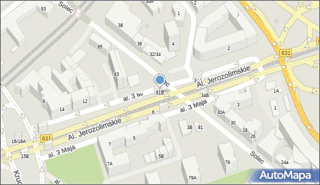 Warszawa, Solec, 81B, mapa Warszawy