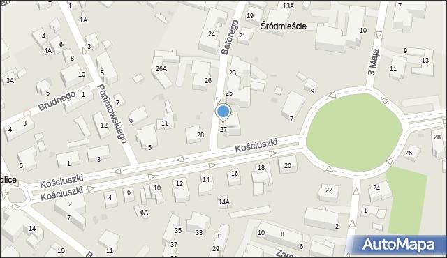 Pszczyna, Stefana Batorego, 27, mapa Pszczyny