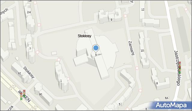Warszawa, Stokłosy, 3, mapa Warszawy