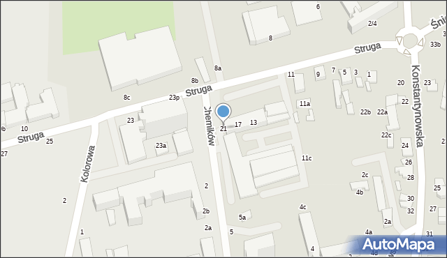 Zgierz, Struga Andrzeja, 21, mapa Zgierz