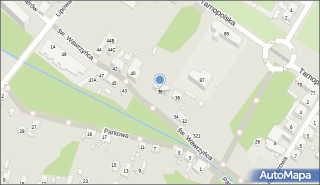 Zabrze, św. Wawrzyńca, 38, mapa Zabrza