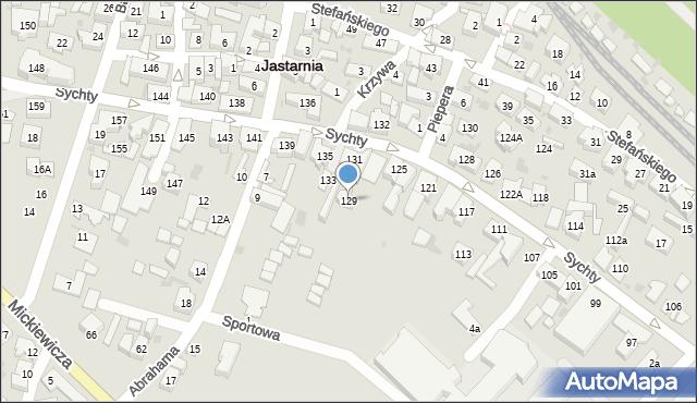 Jastarnia, Sychty Bernarda, ks. dr., 129, mapa Jastarnia