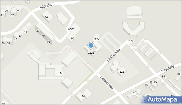Bytom, Szymały, 122B, mapa Bytomia