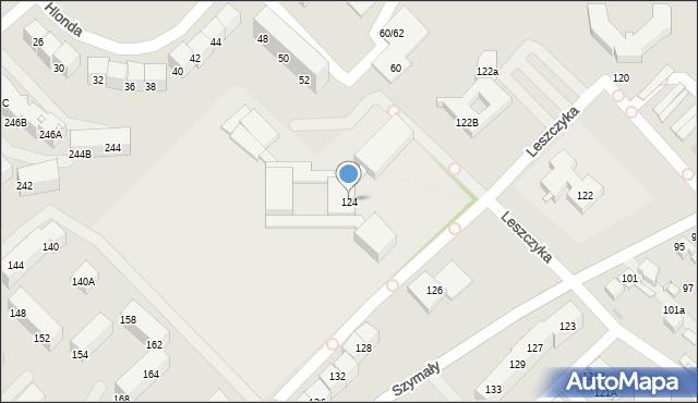 Bytom, Szymały, 124, mapa Bytomia