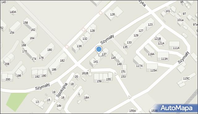 Bytom, Szymały, 139, mapa Bytomia