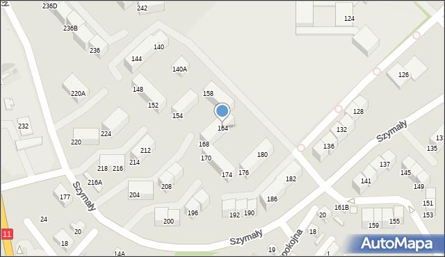Bytom, Szymały, 164, mapa Bytomia
