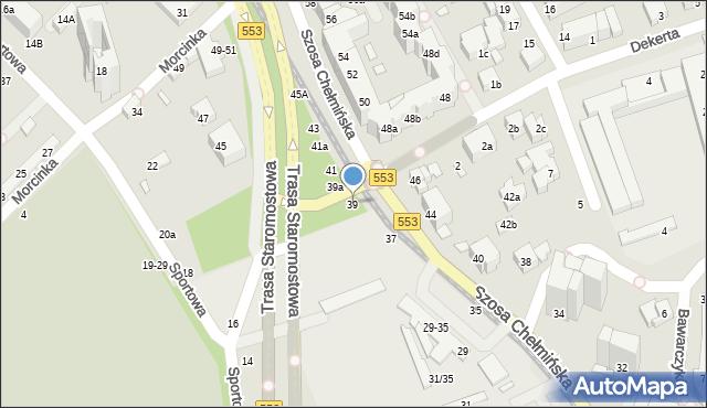 Toruń, Szosa Chełmińska, 39, mapa Torunia