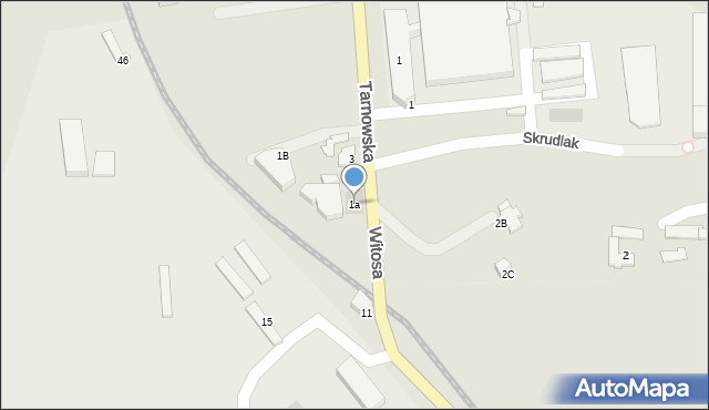 Limanowa, Tarnowska, 1a, mapa Limanowa