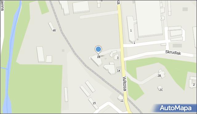 Limanowa, Tarnowska, 1B, mapa Limanowa