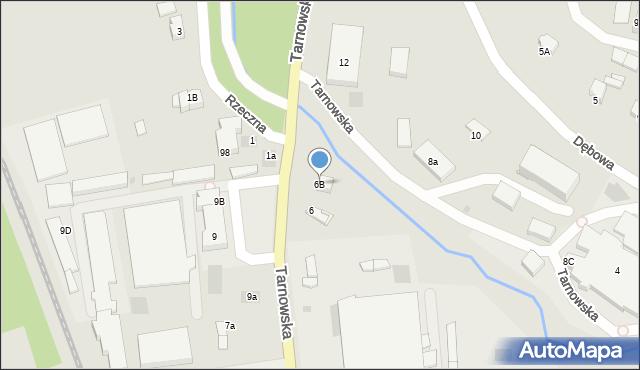 Limanowa, Tarnowska, 6B, mapa Limanowa