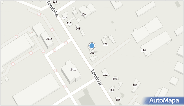Koło, Toruńska, 204, mapa Koło