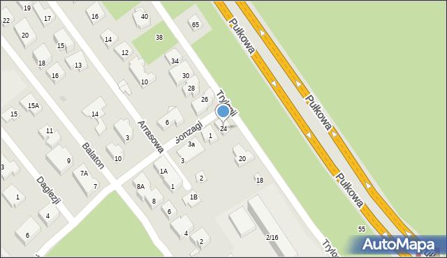 Warszawa, Trylogii, 24, mapa Warszawy