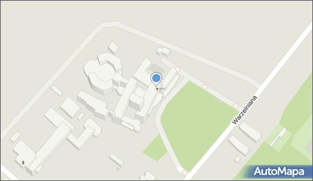 Ciechocinek, Warzelniana, 7, mapa Ciechocinek