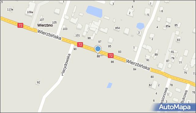 Aleksandrów Łódzki, Wierzbińska, 88, mapa Aleksandrów Łódzki