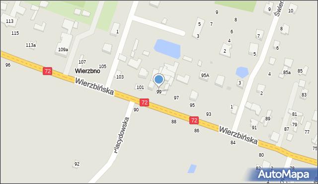 Aleksandrów Łódzki, Wierzbińska, 99, mapa Aleksandrów Łódzki