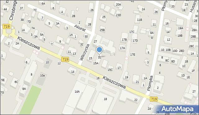 Warszawa, Wilczycka, 31, mapa Warszawy