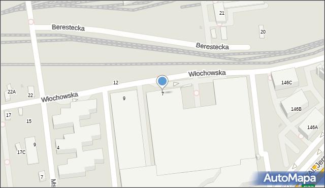Warszawa, Włochowska, 7, mapa Warszawy