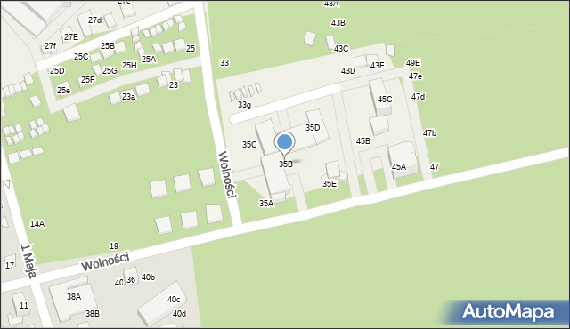 Dziwnówek, Wolności, 35B, mapa Dziwnówek