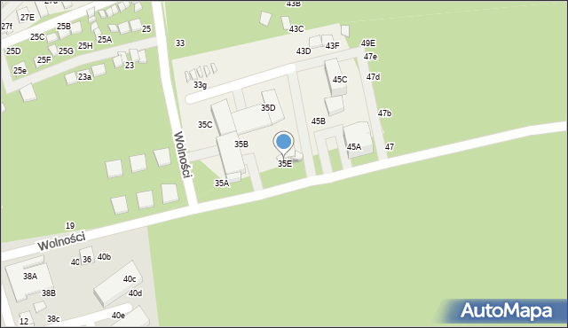 Dziwnówek, Wolności, 35E, mapa Dziwnówek