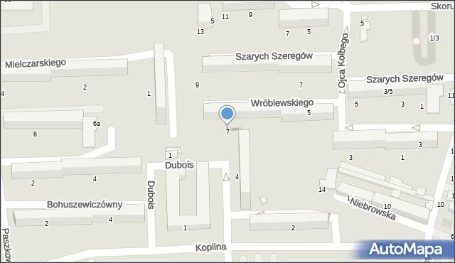 Tomaszów Mazowiecki, Wróblewskiego Walerego, 7, mapa Tomaszów Mazowiecki