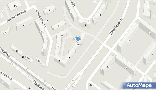 Warszawa, Wrocławska, 7A, mapa Warszawy