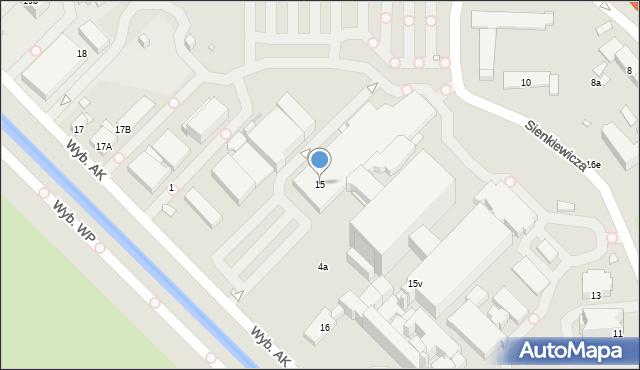 Gliwice, Wybrzeże Armii Krajowej, 15, mapa Gliwic