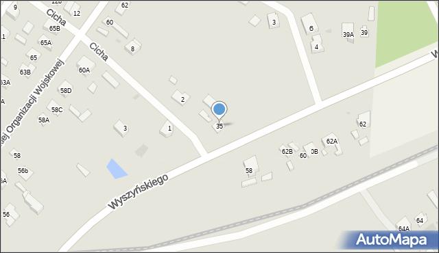 Radzymin, Wyszyńskiego Stefana, ks. kard., 35, mapa Radzymin