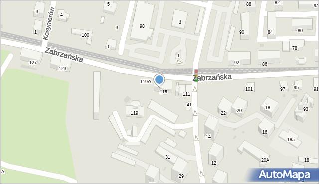 Bytom, Zabrzańska, 117, mapa Bytomia