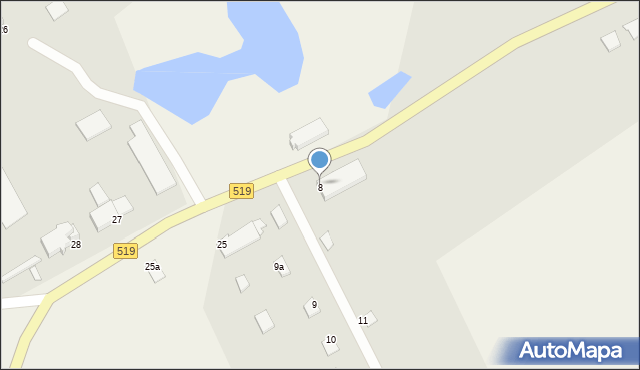 Zajezierze, Zajezierze, 8, mapa Zajezierze