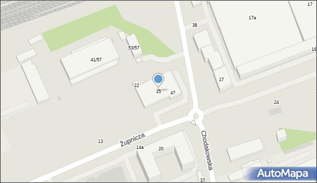 Warszawa, Żupnicza, 15, mapa Warszawy