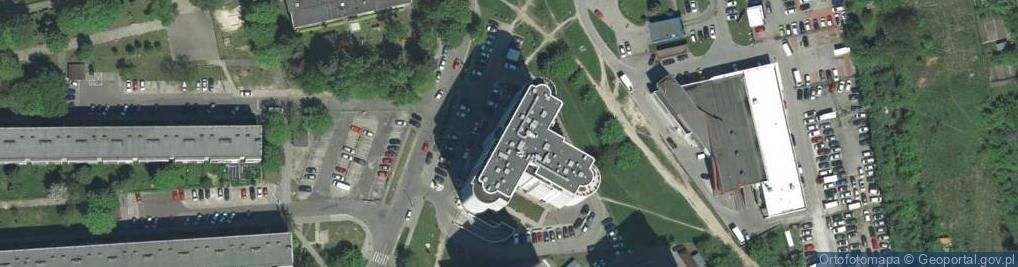 Zdjęcie satelitarne Krowoderskich Zuchów ul.