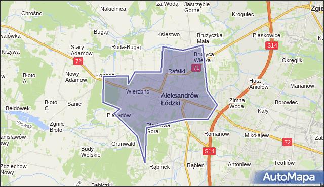 gmina Aleksandrów Łódzki - powiat zgierski na mapie Targeo