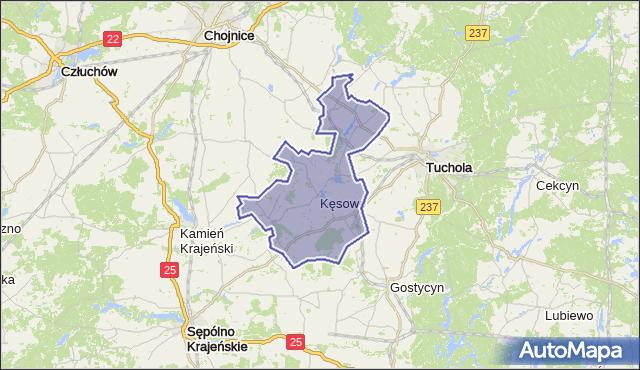 gmina Kęsowo - powiat tucholski na mapie Targeo