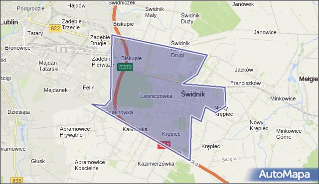 gmina Świdnik - powiat świdnicki na mapie Targeo