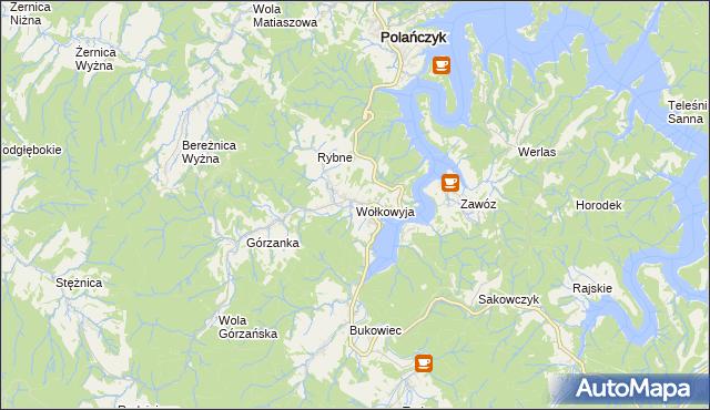 mapa Wołkowyja, Wołkowyja na mapie Targeo