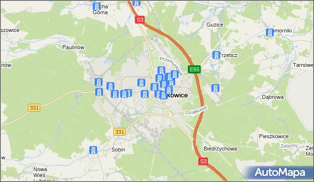 mapa Polkowice, Polkowice na mapie Targeo