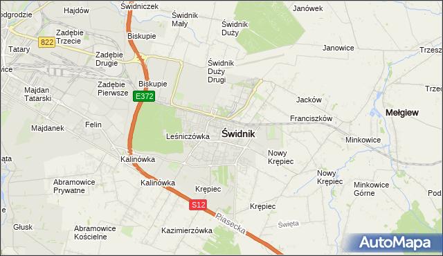 mapa Świdnika, Świdnik na mapie Targeo