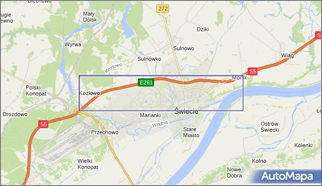 korki drogowe Droga ekspresowa S1 na mapie Targeo