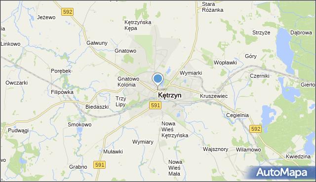 mapa Kętrzyn, Kętrzyn na mapie Targeo