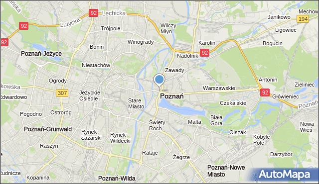 mapa Poznania, Poznań na mapie Targeo