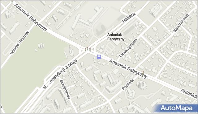 Przystanek Antoniuk F./Konstytucji 3 Maja. BKM - Białystok (google) na mapie Targeo