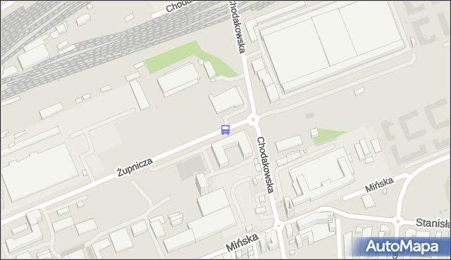 Przystanek CHODAKOWSKA 01. ZTM Warszawa - Warszawa na mapie Targeo