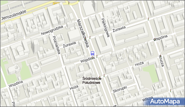Przystanek Hoża 03. ZTM Warszawa - Warszawa (id 701203) na mapie Targeo