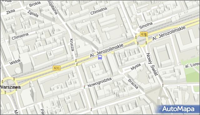 Przystanek Krucza 01. ZTM Warszawa - Warszawa na mapie Targeo